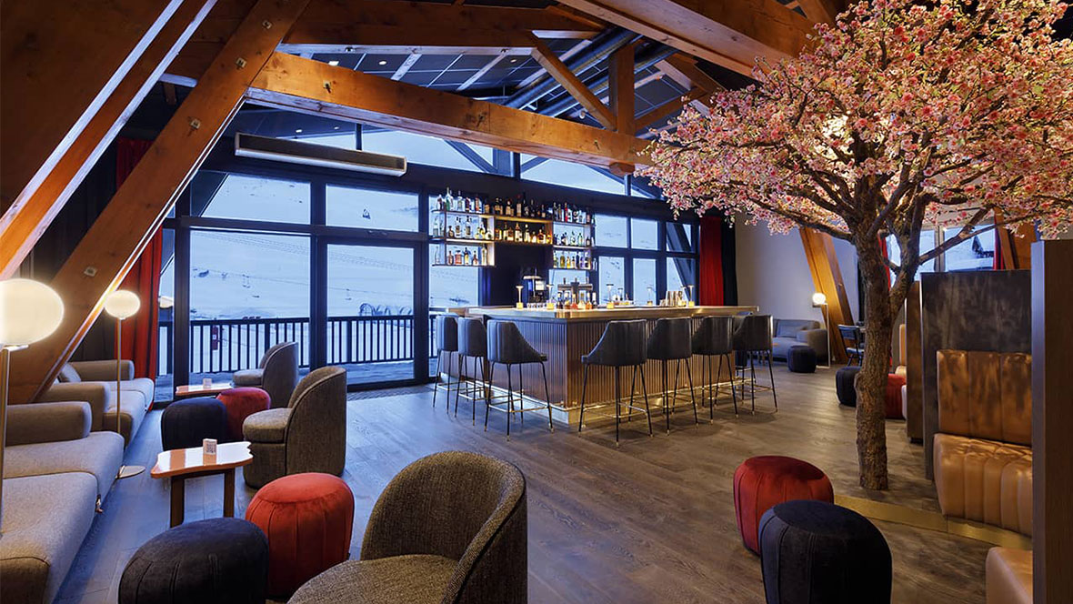 Hôtel Marielle Val Thorens Spa Nuxe pièce du bar
